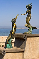 sculpture, bronze, mermaid, malecon, Puerta Vallarta, Mexico